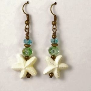 Jewelry - Star Fish~Blue & Green~Handmade Earrings
